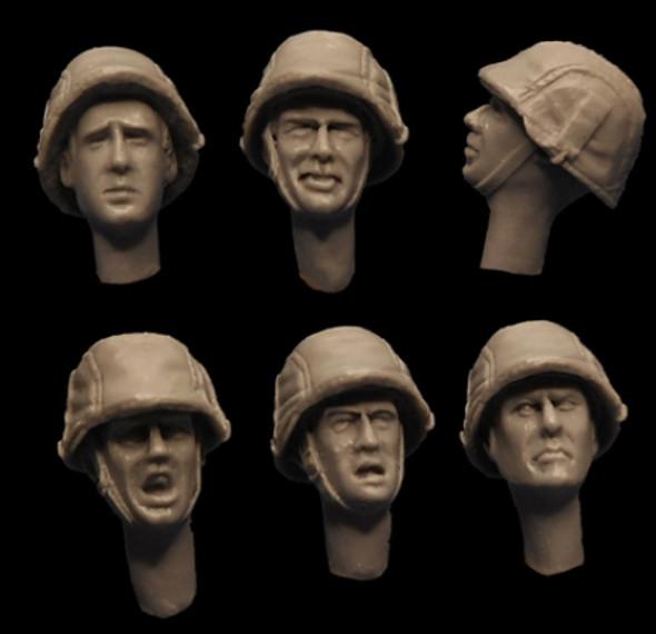 German Camo Cover Helmet Heads
