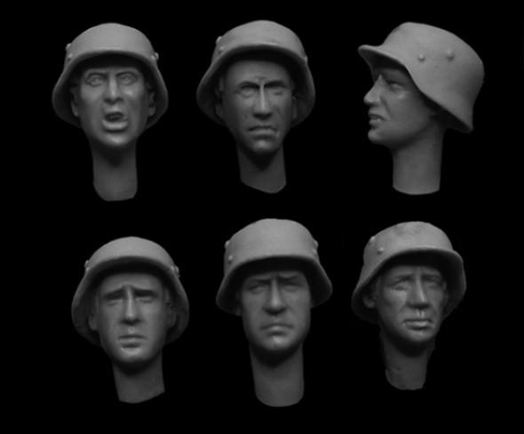 German WW2 Helmet Heads