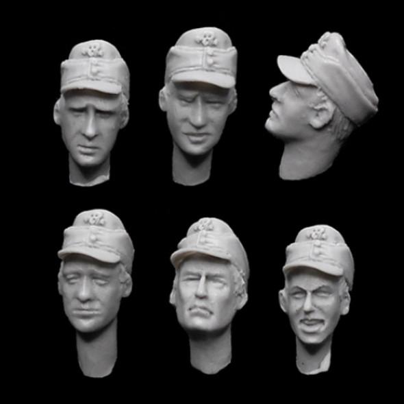 German SS Fieldcap heads