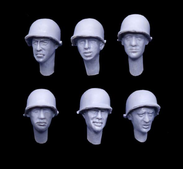 US WW2 Helmet Heads