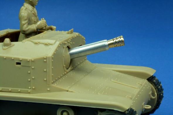 75mm L / 18 Barrel for italian Semovente M40