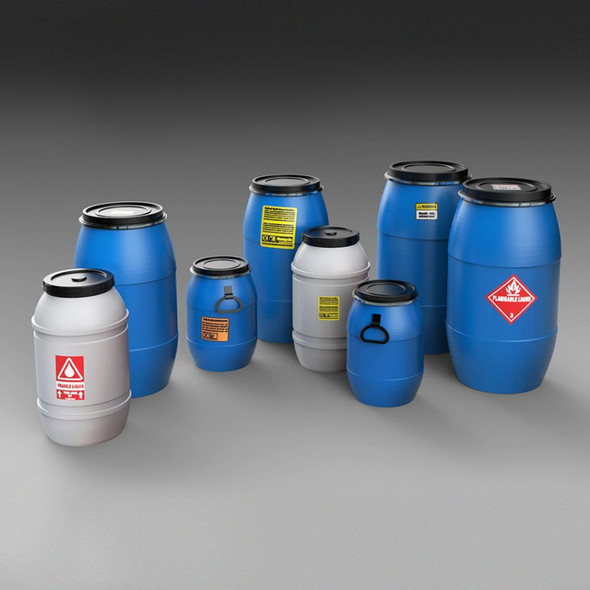 Plastic chemical/water containers & bottles No,2