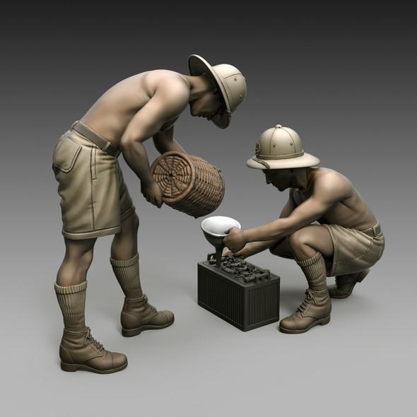 Italian Soldiers Battery maintenance