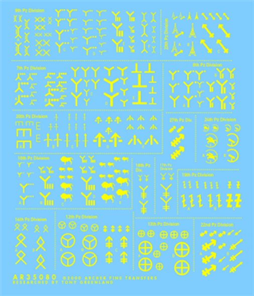 Heere Division insignias (yellow)