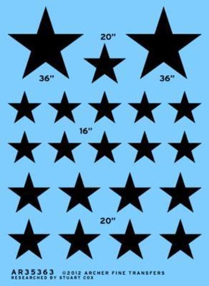 Modern US insignia stars