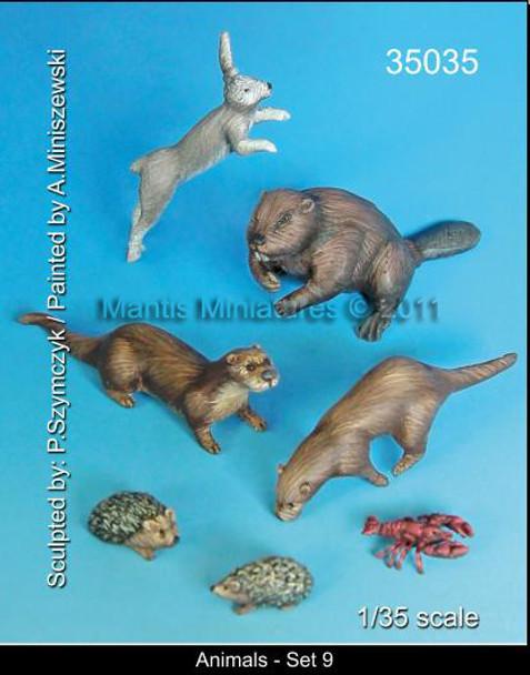 Animal Set 9(rabbit beaver, hedgehog)
