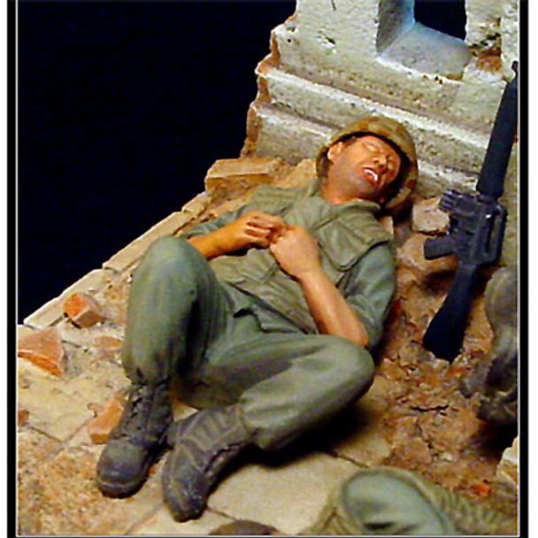 Exhausted US Marine Vietnam
