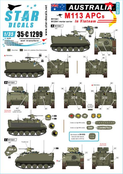 Australia in Vietnam # 2. Aussie M113 APCs. M113A1 and M125A1 Mortar Carrier.