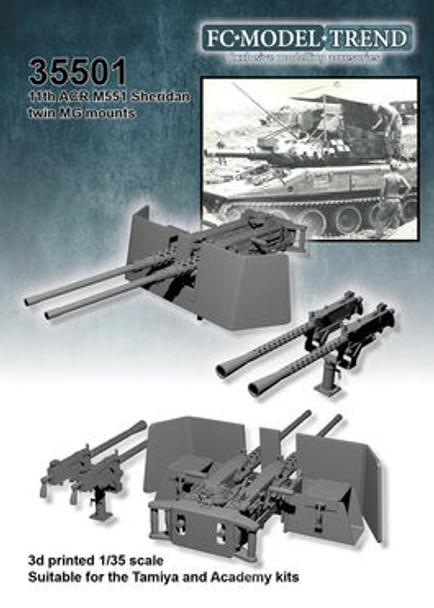 M551 Sheridan double machine gun mounts,