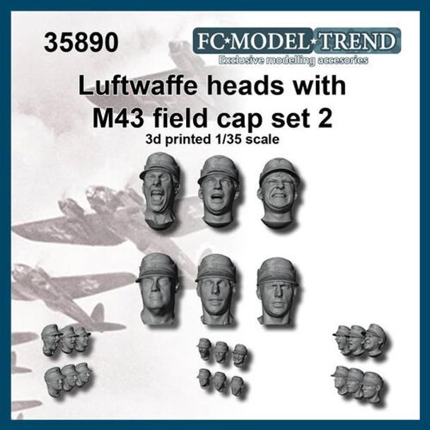 Luftwaffe Heads M43 Fiel Caps #2