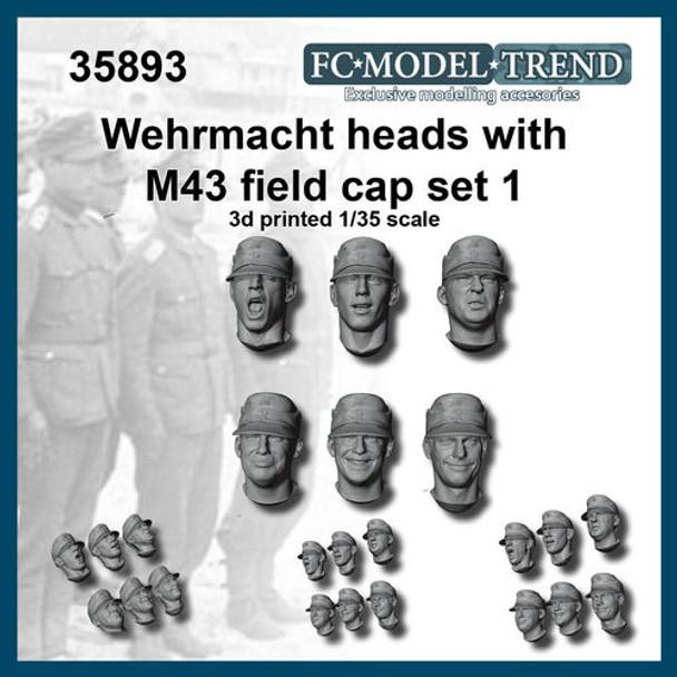 Wehrmacht Heads with M43 field Cap #1