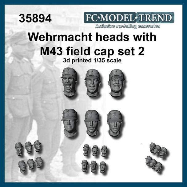 Wehrmacht Heads with M43 field Cap #2