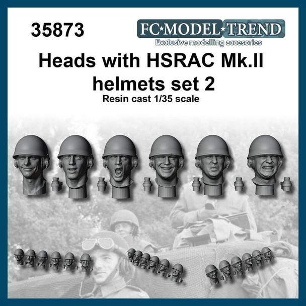 Heads with helmet HSRAC MK.III, set 2