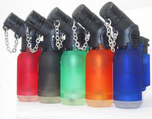 SHORT Single Jet Flame Torch Lighter Windproof Refillable Cigarette Lighter Red,Black,Green,Blue,Orange