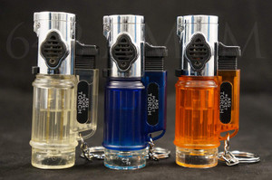 Triple Jet Torch Flame Windproof Butane Refillable Lighters