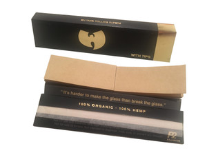 Wu Tang Organic Rolling Papers with Tips - Kingsize Slim