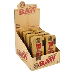 Raw Roll Caddy 1 1/4 Size Metal Travel Tin Case