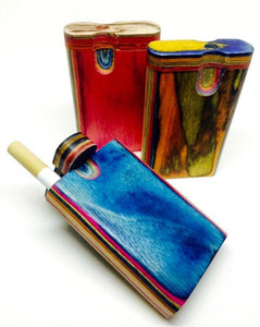 Multi Color Wood Twist Top Dugout - Small