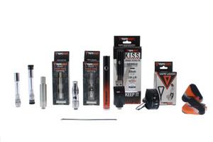 K.I.S.S. Pen 3 in 1 Vaporizer Kit (Oil, Juice & Wax Tanks) - Black Orange Gradient