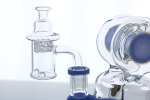 14mm Male 90 Degree Bell Bottom Banger Set with Terp Pearls & Vortex Carb Cap (6 Piece Set)