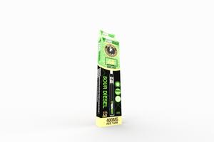 VapeBrat Disposable Delta 8 Vape Pen: Sour Diesel 400mg 5 Pack Display