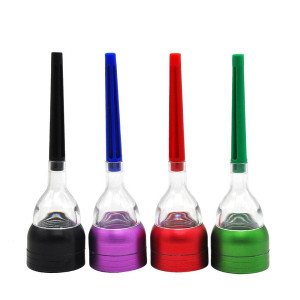 3 Parts Plastic Cone Artist Multi-function Funnel Plastic Herb Grinder Spice Crusher Hand Cracker ASSORTED COLORS