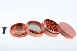 50mm Stainless Steel Rose Gold Pink 4 Level Grinder