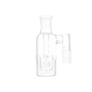 Ash Catcher with Encased Shower Head Perc 90 Degree 14mm Male - Clear