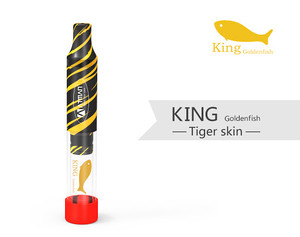 King Goldenfish Glass Blunt Pipe Mechanical Vape for Dry Herb & Tobacco - Tiger Skin