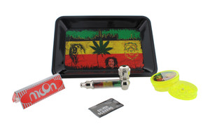 Bob Marley New Mini Kit with Rolling Tray, Grinder, Papers, & Pipe