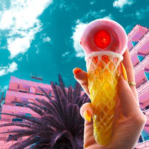 """Ice Cream Cone 6"""" Glass Pipe"""