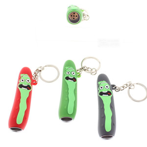 Rick & Morty PICKLE RICK SILICONE KEYCHAIN PIPE 3 Pack