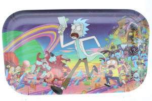 """R and M Limited Edition Rolling Tray """"Adventure"""" : 10.5"""" x 6.5"""" Non-Stick Coating Version (Large)"""