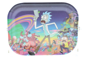 """R and M Limited Edition Rolling Tray """"Adventure"""" : 5.5"""" x 7"""" Plastic Version"""