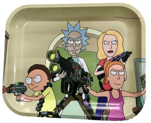 """Rick and Morty - Limited Edition Rolling Tray """"Parasites"""" : 5.5"""" x 7"""""""