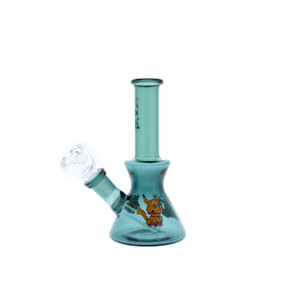 """6"""" GLASS BONG R and M - GREEN"""