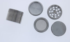 Silver 3 Chamber Metal Grinder 40mm