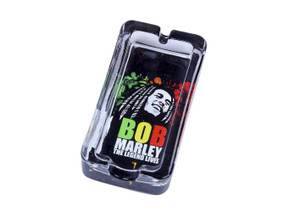 Bob Marley The Legend Lives Glass Crystal Cigar Cigarette Rectangle Style Ashtray