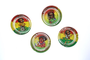 Round Glass Rasta Man - Tobacco Ashtray