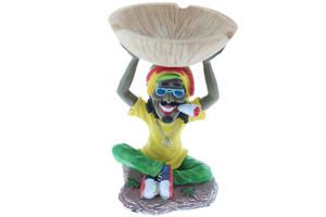 Rasta Man Sitting Ashtray - Small