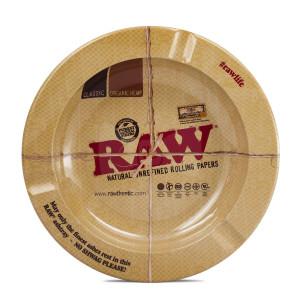Raw Metal Round Magnetic Ashtray
