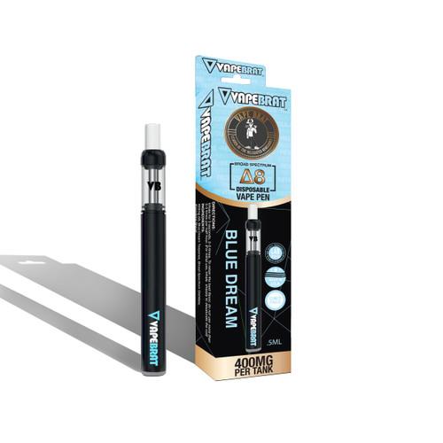 VapeBrat Disposable Delta 8 Vape Pen: Blue Dream 400mg 5 Pack Display