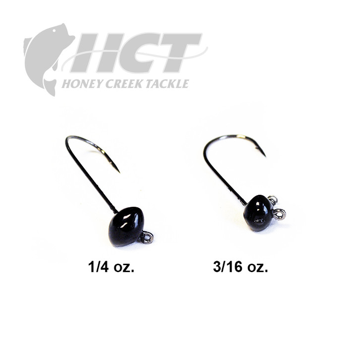 Honey Creek Tackle Football Shaky Head - Black