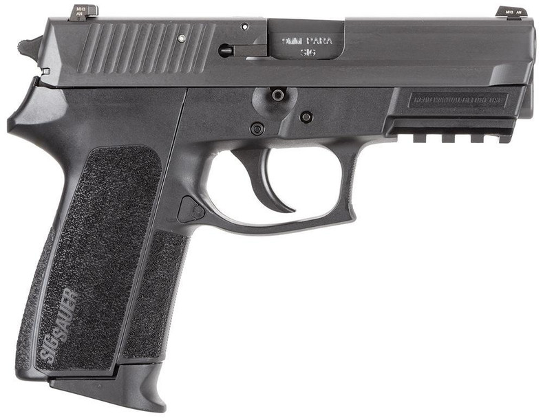 "Sig Sauer E20229BSS SP2022 Full Size Single/Double 9mm Luger 3.9"" 15+1 Black Polymer Grip Black Nitride Stainless Steel"