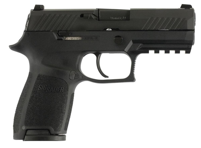 """Sig Sauer 320C9B10 P320 Compact Double 9mm Luger 3.9"""" 10+1 Black Polymer Grip Black Nitron Stainless Steel"""