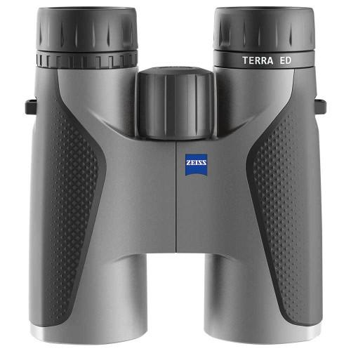 Zeiss Terra ED 8x42 grey binoculars, front view