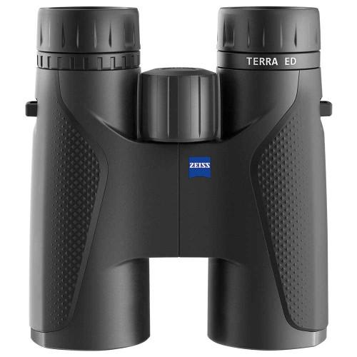 Zeiss Terra ED 8x42 black binoculars, front view