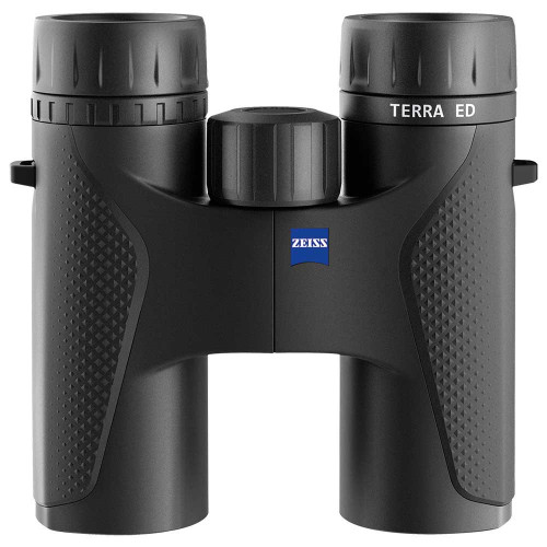 Black Zeiss Terra ED 10x32, front view