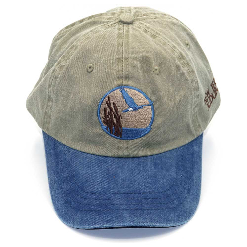 Tan & blue baseball hat with NJ Audubon logo