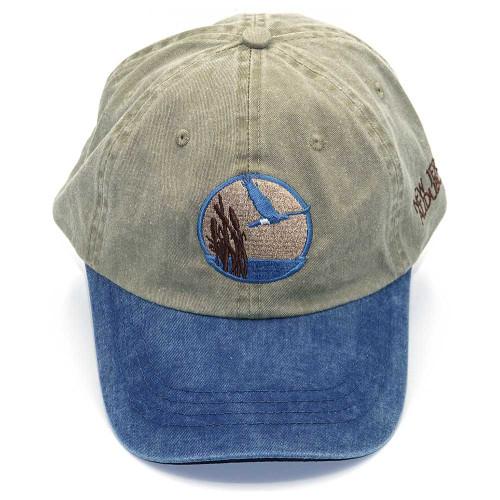 Tan & blue baseball hat with NJ Audubon logo